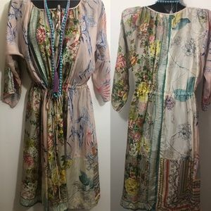 Johnny Was Dresses - Johnny Was size large dress silk floral print GUC